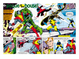 X-Men Annual 3 Group: Colossus, Nightcrawler, Wolverine, Storm, Cyclops and X-Men Prints by George Perez