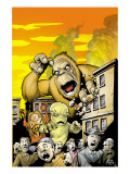Monsters: Where Monsters Dwell No.1 Cover: Monstrollo, Bombu and Manoo Print by Eric Powell