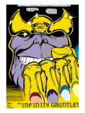 Infinity Gauntlet 2 Headshot: Thanos Prints by George Perez