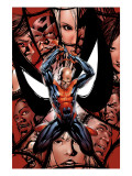 House Of M 5 Cover: Spider-Man, Peter Parker, Charging Art by Mike McKone