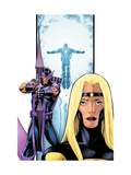 Avengers Thunderbolts No.3 Cover: Moonstone and Hawkeye Prints by Kitson Barry