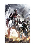 War Machine No.10 Cover: Iron Patriot and War Machine Posters