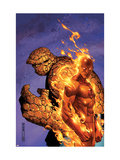 Fantastic Four No.56 Cover: Thing and Human Torch Print by Jim Cheung