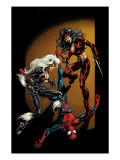 Ultimate Spider-Man 84 Cover: Spider-Man, Black Cat and Elektra Posters by Mark Bagley