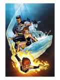 Ultimate X-Men 57 Cover: Grey, Jean, Iceman, Cyclops and Shadowcat Fighting Prints
