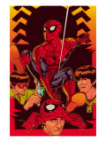 Spider-Man: With Great Power&No.5 Cover: Spider-Man, Peter Parker Prints by Tony Harris