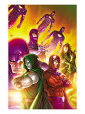 Doctor Doom and The Masters of Evil No.4 Cover: Dr. Doom, Magneto and Sentinel Print by Roger Cruz