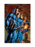 Fantastic Four 554 Cover: Mr. Fantastic, Invisible Woman, Human Torch and Thing Posters by Bryan Hitch