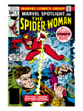 Marvel Spotlight: Spider-Woman No.32 Cover: Spider Woman and Nick Fury Fighting Print by Sal Buscema