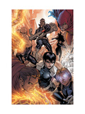 Avengers: The Initiative 16 Group: Nick Fury, Phobos, Yo-Yo, Hellfire, Druid, Stonewall and Quake Prints by Stefano Caselli