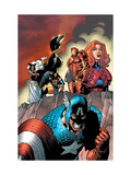 Marvel Adventures The Avengers 14 Cover: Captain America Print by Kirk Leonard