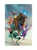 Lockjaw and The Pet Avengers 1 Cover: Lockjaw, Lockheed, Throg, Redwing and Hairball Prints by Karl Kerschl
