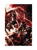 War Machine 3 Cover: War Machine and Ares Print by Mattina Francesco
