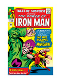 Tales Of Suspense 55 Cover: Iron Man and Mandarin Fighting Poster by Don Heck