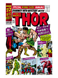 Journey Into Mystery: Thor 1 Cover: Thor and Hercules Fighting Prints by Jack Kirby