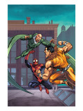 Marvel Adventures Spider-Man 7 Cover: Spider-Man, Kraven The Hunter and Vulture Poster by Tony Daniel