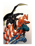 Marvel Knights Spider-Man 18 Cover: Justice, Spider-Man, and Ethan Edwards Print by MCNiven Steve