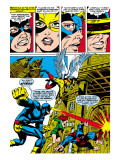 X-Men 50 Group: Cyclops, Angel, Beast, Grey, Jean, X-Men and Marvel Girl Art par Jim Steranko