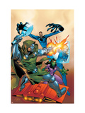 Fantastic Five 2 Cover: Dr. Doom, Mr. Fantastic, Invisible Woman and Lyja Posters by Ron Lim