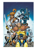 X-Force No.6 Cover: Cable, Shatterstar and Domino Prints by Rob Liefeld