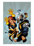 Ultimate X-Men No.54 Cover: Grey, Jean, Cyclops, Nightcrawler and Colossus Posters