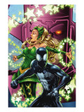 Spider-Man & The Secret Wars 3 Cover: Spider-Man, Enchantress and Galactus Print by Patrick Scherberger
