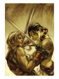 Thor Son Of Asgard 7 Cover: Sif and Thor Poster