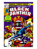 Black Panther No.7 Cover: Black Panther Charging Posters by Jack Kirby