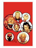 Alpha Flight 12 Cover: Yukon Jack, Puck, Sasquatch, Vindicator and Alpha Flight Prints by Henry Clayton