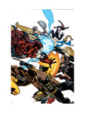 New Avengers 56 Cover: Wolverine, Daken, Captain America and Iron Patriot Poster by Immonen Stuart