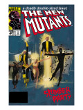 The New Mutants No.4 Cover: Sunspot, Cannonball, Magik, Magma, Wolfsbane and New Mutants Art by Bill Sienkiewicz