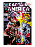 Captain America Annual 8 Cover: Captain America and Wolverine Flying Prints by Mike Zeck