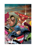 The Mighty Avengers 22 Cover: U.S. Agent, Hercules and Iron Man Prints by Pham Khoi