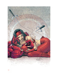 Ultimate Elektra No.4 Cover: Daredevil and Elektra Kunst von Salvador Larroca