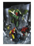 Secret Invasion No.2 Cover: Vision, Iron Man, Spider-Man, Luke Cage and Beast Poster