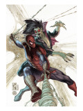 The Amazing Spider-Man 622 Cover: Spider-Man and Morbius Prints by Bianchi Simone