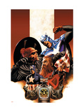 Captain America No.42 Cover: Captain America, Red Skull, Zola and Arnim Prints by Epting Steve