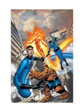 Fantastic Four No.517 Cover: Mr. Fantastic, Invisible Woman, Thing, Human Torch and Fantastic Four Poster by Mike Wieringo