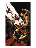 Incredible Hercules 139 Cover: Hercules, Wolverine and Spider-Man Print by Bierek Michael