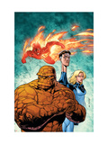 Marvel Adventures Fantastic Four No.43 Cover: Thing, Mr. Fantastic, Invisible Woman and Human Torch Láminas por Salva Espin