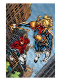 New Excalibur 4 Cover: Lionheart and Captain Britain Affiches par Cummings Steven