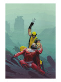 House Of M No.8 Cover: Wolverine and Magneto Prints