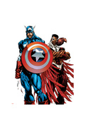 Captain America &amp; The Falcon 1 Cover: Captain America and Falcon Prints by Sears Bart