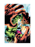 Marvel Adventures Hulk 5 Cover: Hulk and Dr. Strange Poster par Santacruz Juan
