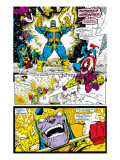Infinity Gauntlet No.4 Group: Thanos, Captain America and Drax The Destroyer Prints by George Perez