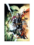 Free Comic Book Day 2009 Avengers 1 Cover: Thor and Spider-Man Print by Jim Cheung