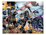 Ultimate X-Men No.97 Group: Wolverine, Colossus, Nightcrawler, Storm and Iceman Poster par Mark Brooks