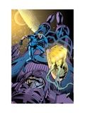 Fantastic Four 571 Cover: Mr. Fantastic and Galactus Prints by Davis Alan