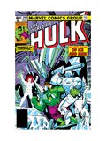 The Incredible Hulk No.249 Cover: Hulk and Jack Frost Fighting Posters by Steve Ditko