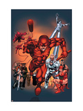 The Official Handbook Of The Marvel Universe: Daredevil 2004 Cover: Daredevil Poster by Salvador Larroca